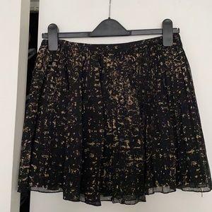 Madewell Patterned Pleated Mini Skirt